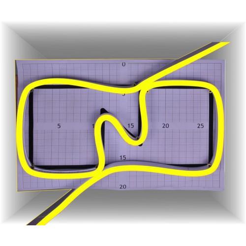 Neon led al corte flexible simple 12V AMARILLO LIMON 6mm 8W