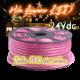 Hilo luminoso led al corte horizontal PVC ROSA MAGENTA exterior 24V