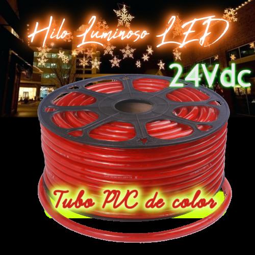Hilo luminoso led al corte horizontal PVC ROJO exterior 24V
