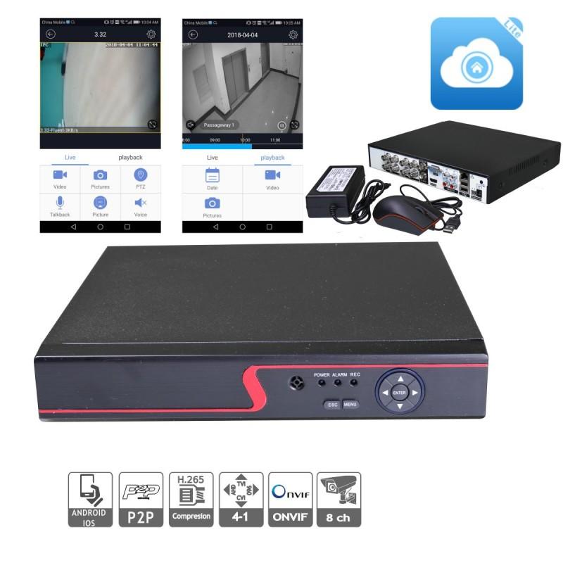 Videograbdor 8 canales XVR 5 en 1, 5 megapixel APP para móvil