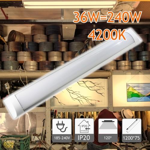 Regleta Slim de 1200 mm 36W 4200K