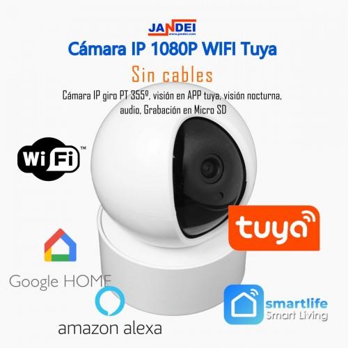Camara IP HD 1080P 2mp audio SD movimiento control TUYA
