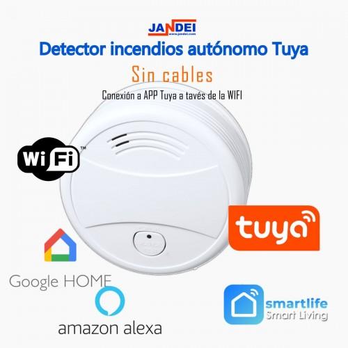 Detector de incendios autónomo WIFI Tuya Smart aplicación
