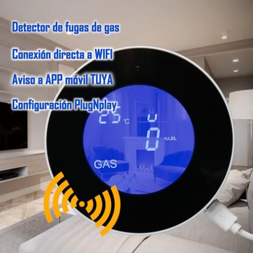 Detector de gas natural autónomo LCD WIFI TUYA Smart App