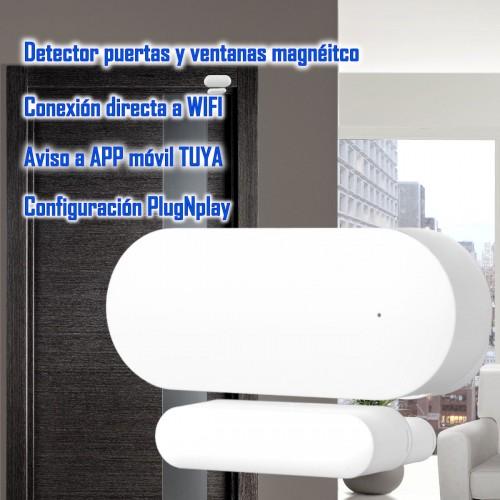 Detector magnético puerta y ventana autónomo WIFI TUYA Smart aplicación