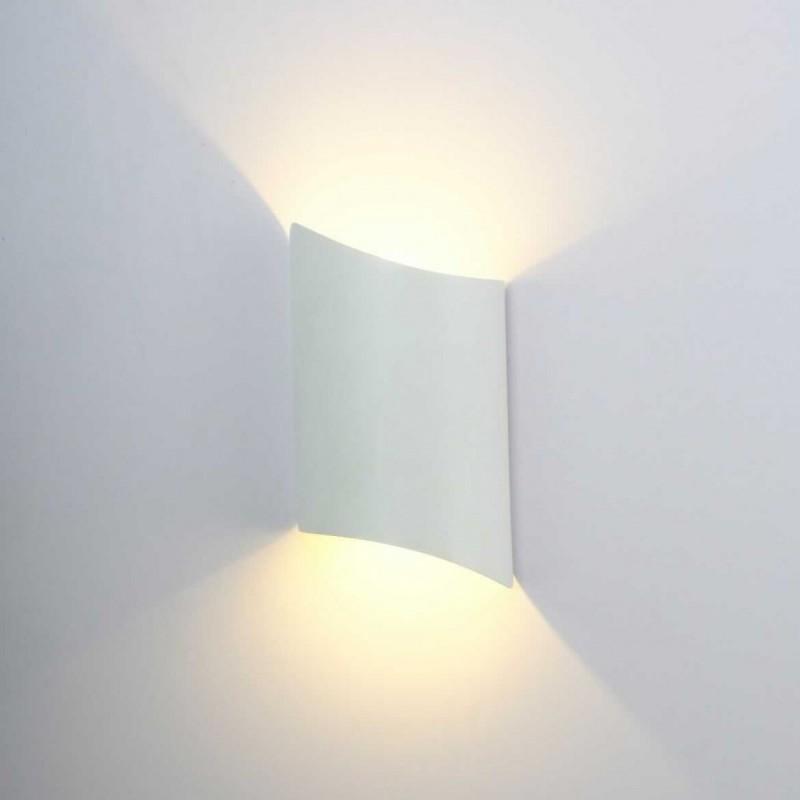 "Aplique LED pared ""Darwin"" 10W de exterior IP65 3000K carcasa blanca"