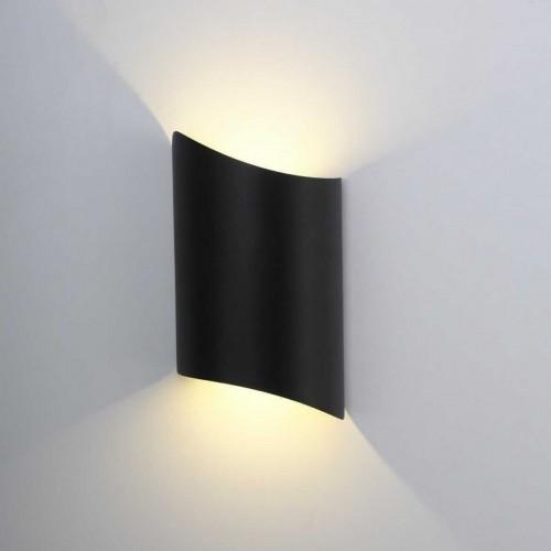 """Aplique LED pared """"Darwin"""" 10W de exterior IP65 3000K carcasa negra"""