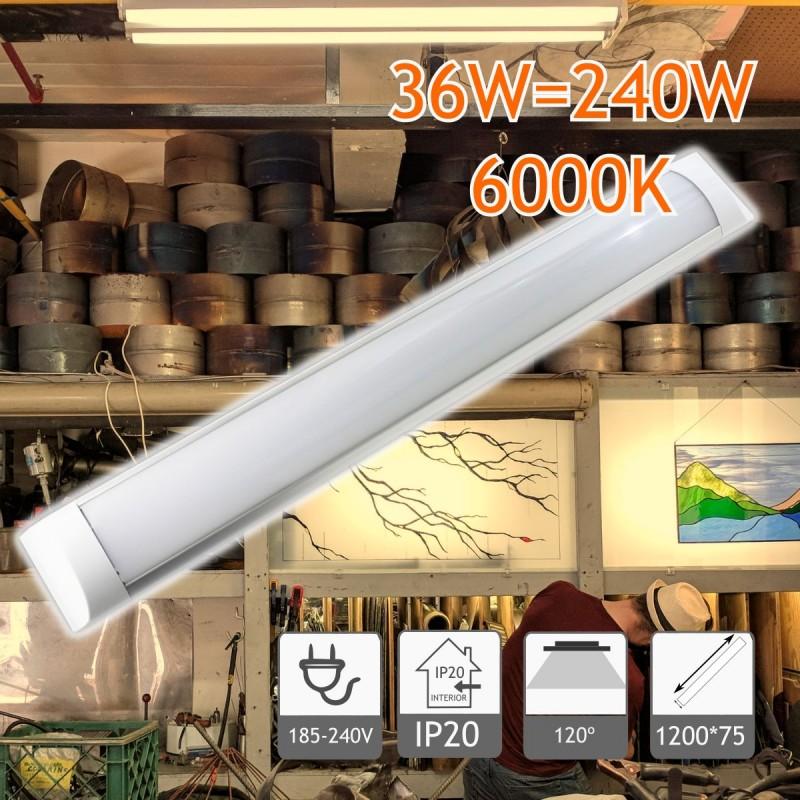 Regleta Slim de 1200 mm 36W 6000K (Defectuosa)
