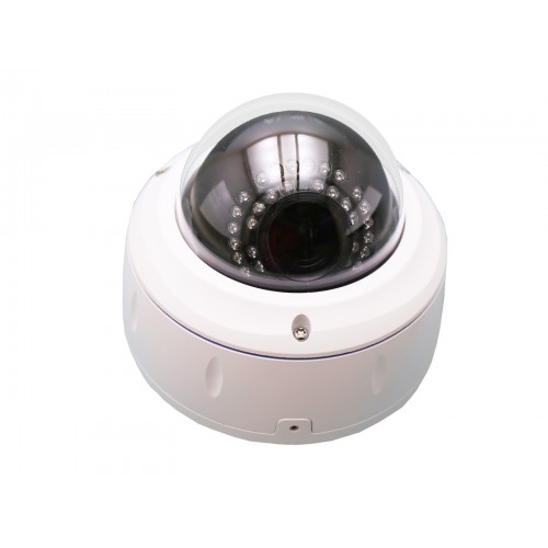 Cámara minidomo IP 2.0MP 2,8-12 mm IR-CUT 30 mts