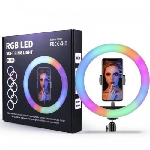 Anillo de led con soporte 260mm de diámetro regulable RGB + CCT
