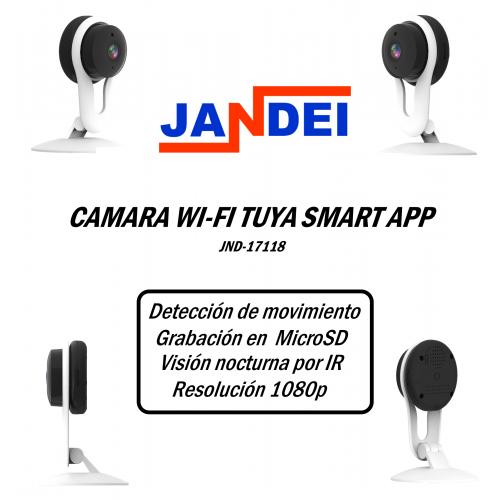 Cámara Wi-Fi 1080p Tuya Smart App 3.6 mm interior
