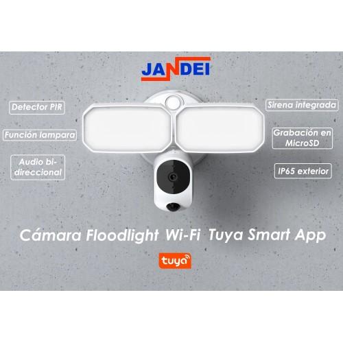 Cámara Floodlight  Wi-Fi Tuya Smart App