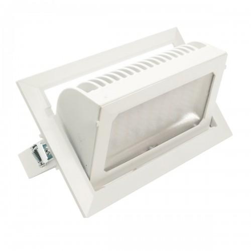 Downlight LED 30W Basculante rectangular 3000K blanco