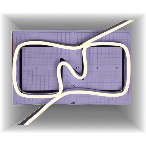 Neon led al corte flexible simple 12V 4200K 8mm 8W
