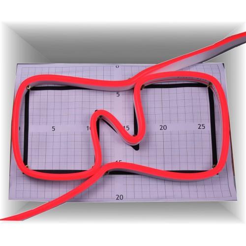 Neon led al corte flexible simple 12V ROJO 8mm 8W