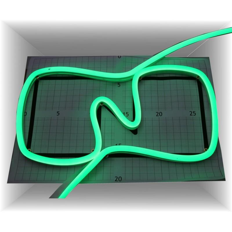 Neon led al corte flexible simple 12V VERDE 8mm 8W
