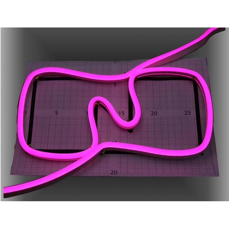 Neon led al corte flexible simple 12V ROSA 8mm 8W