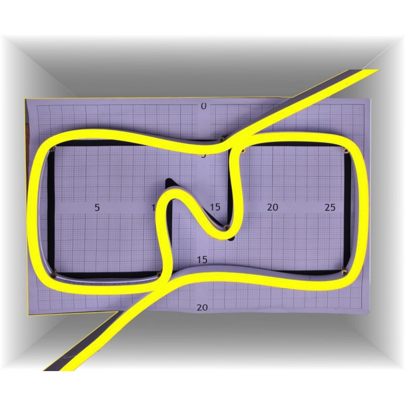 Neon led al corte flexible simple 12V AMARILLO LIMON 8mm 8W