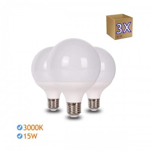 Bombilla led Globo G95 E27 15W 6000K