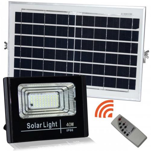 Proyector led solar NATURE 40W panel separado batería litio