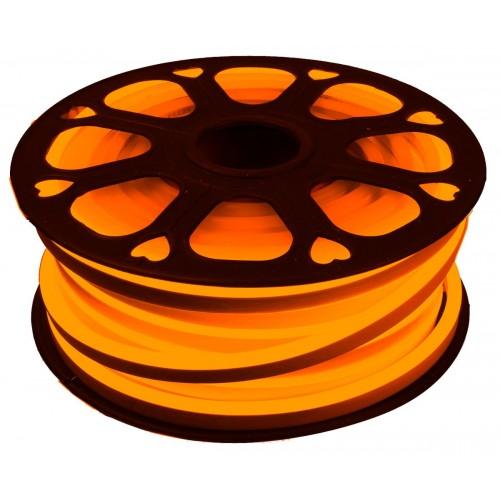 Neon led flexible simple 12V Naranja 6mm corte 1 cm 100 led metro 12W 25m