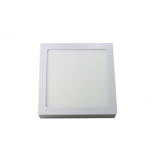 Downlight led 18W 6000ºK cuadrado superficie blanco