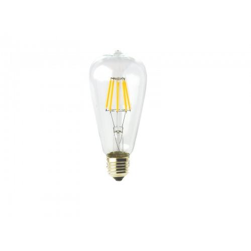 Bombilla LED ST64 Filamento 8W rosca E27 Blanco 4000K