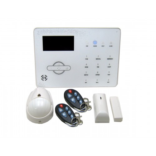 KIT ALARMA hogar y oficina VIA RADIO GPRS PSTN+GSM,  español