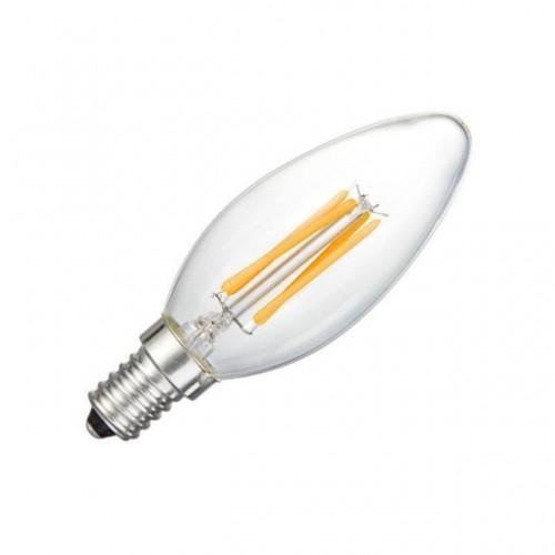 Bombilla led C35 filamento E14 4W 2700K
