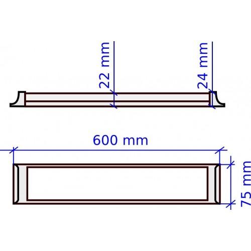 Regleta Slim de 600 mm 18W 6000K