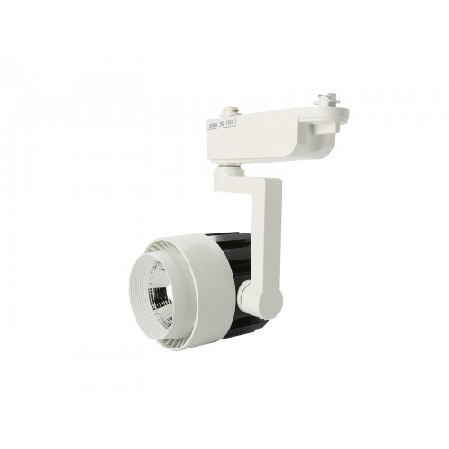 Foco led carril 30W COB 4200K carcasa blanca/negra y pie blanco