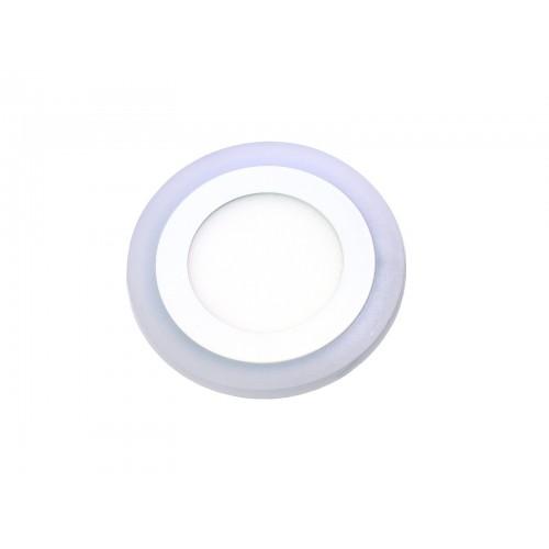 Downlight redondo empotrar dos colores blanco 6000ºK y azul. 6W + 3W