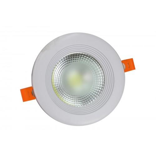 Downlight led COB 10W 6000ºK redondo empotrar blanco