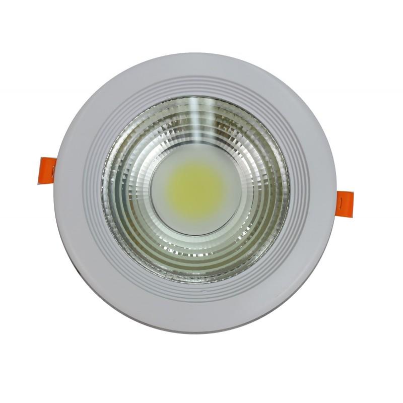 Downlight led COB 20W 6000ºK redondo empotrar blanco