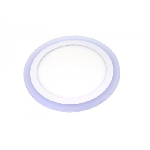 Downlight redondo empotrar dos colores blanco 6000ºK y azul. 18W + 6W