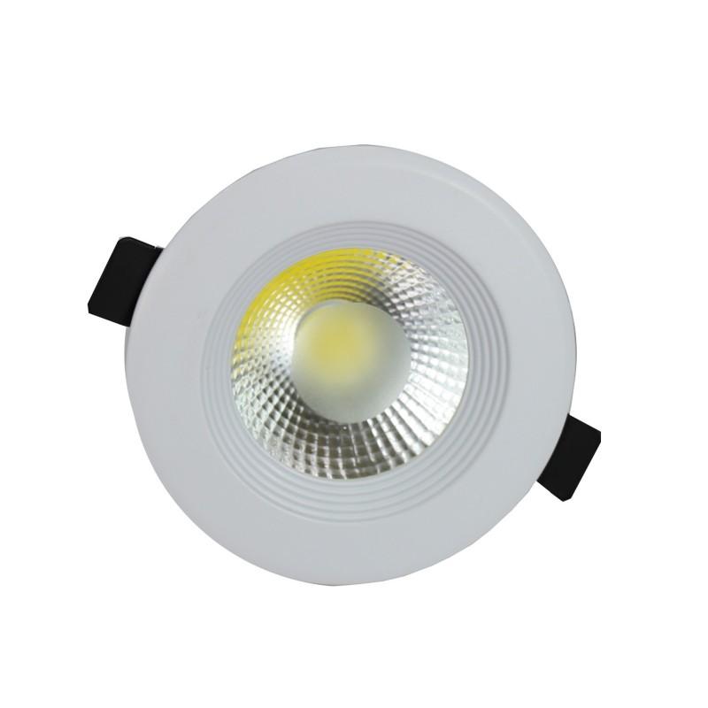 Downlight led COB 5W 6000ºK redondo empotrar blanco