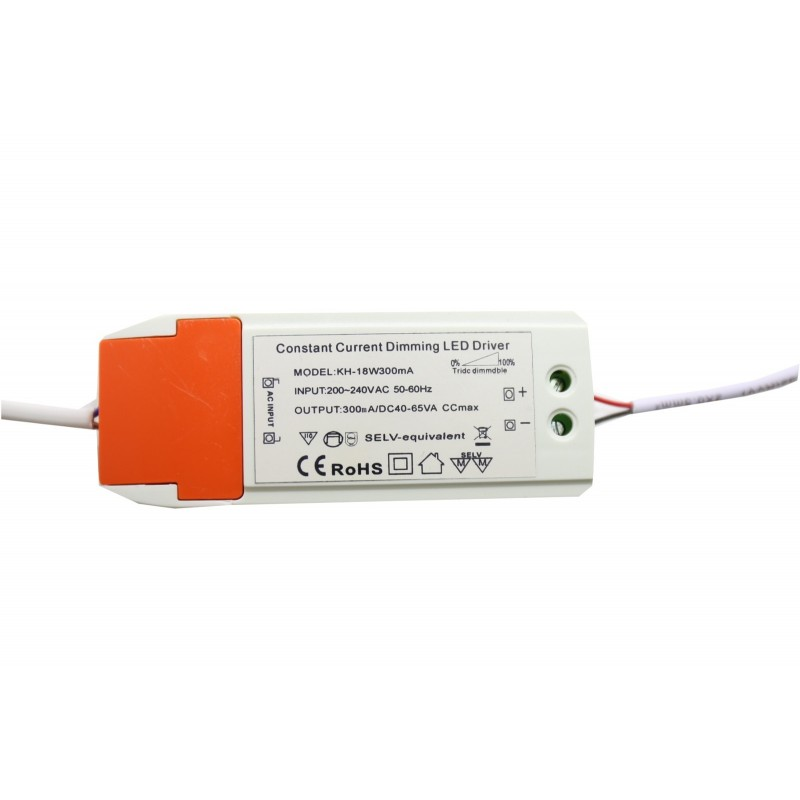 Driver downlight led Dimable / regulable 12W - 15W 300mA