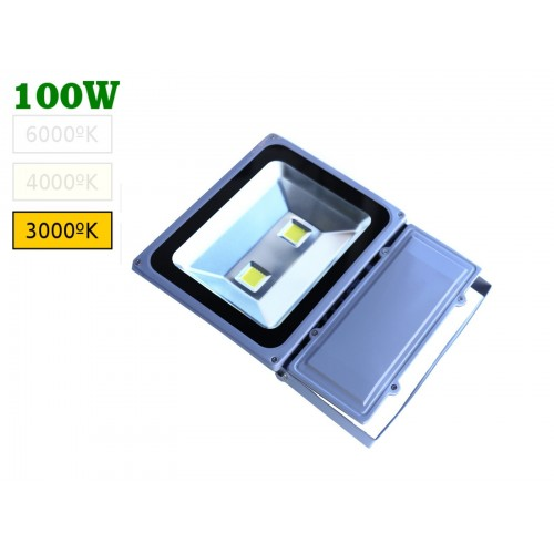 Foco led 100W blanco natural 3000ºK exterior