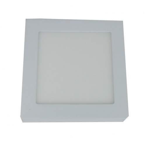 Downlight led 12W 6000ºK cuadrado superficie blanco