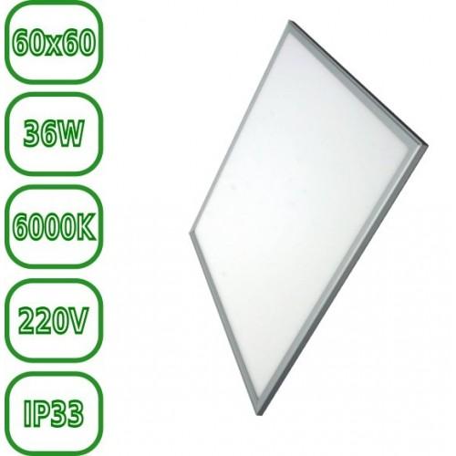 Panel led 60 x 60 cm 30W Bl. 6000ºK marco aluminio