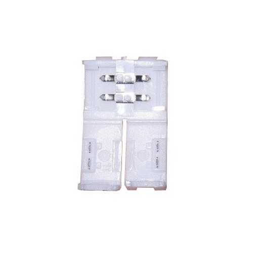 Conector tira led de presión 8mm 2 contactos IP20 Pack 10 ud