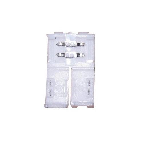 Conector tira led de presión 8mm 2 contactos IP20 Pack 10 ud