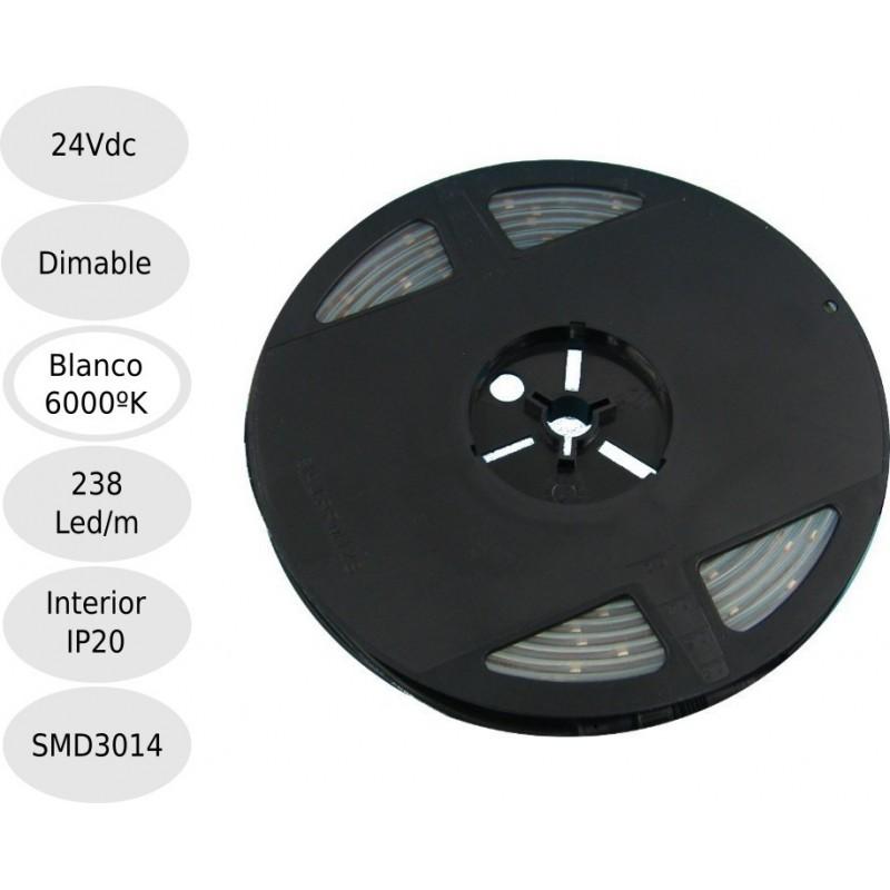 Tira led 24V 6000ºK 238leds IP20 SMD3014