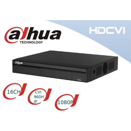 Videograbdor HDCVI 1080P 16 Canales +8 Ips, Dahua Dh-hcvr5108hs-s3