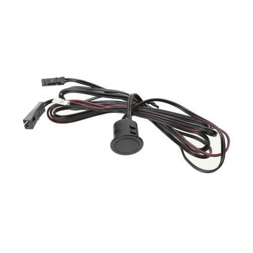 Interruptor y regulador táctil empotrar cable 12/24V DC 48W negro