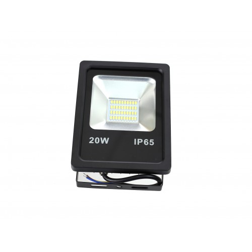 Proyector LED slim 20W Exterior IP65 SMD5630 carcasa negra