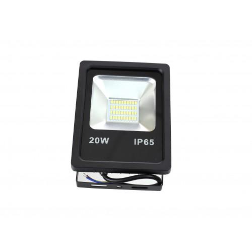 Proyector LED slim 20W Exterior IP65 SMD5630 carcasa negra