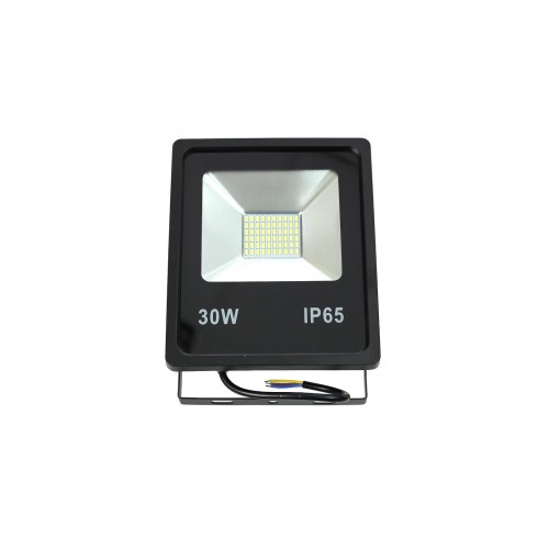 Proyector led slim 30W exterior IP65 SMD5730 6000K negro