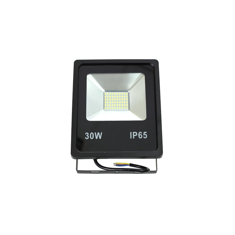 Proyector led slim 30W exterior IP65 SMD5730 6000K negro