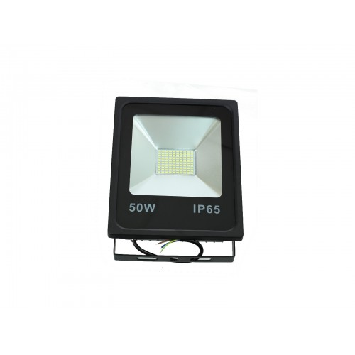 Proyector LED slim 50W Exterior IP65 SMD5730 carcasa negra